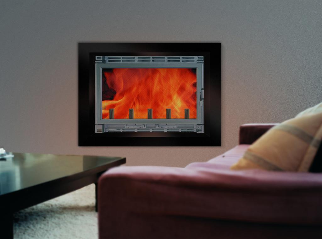 insert cheminée wodtke F70 habillage design prisme noir