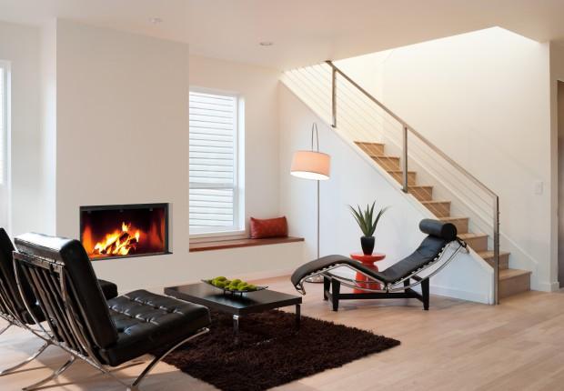 Cheminee bois moderne multifonctionnelle design de maison - Cheminees modernes ...