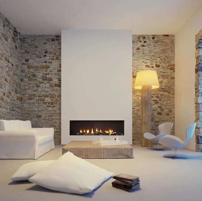 Foyers à gaz design by fondis