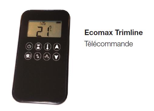 télécommande écomax contrôle du foyer à gaz